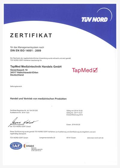 Zertifikat-14001_Tapmed