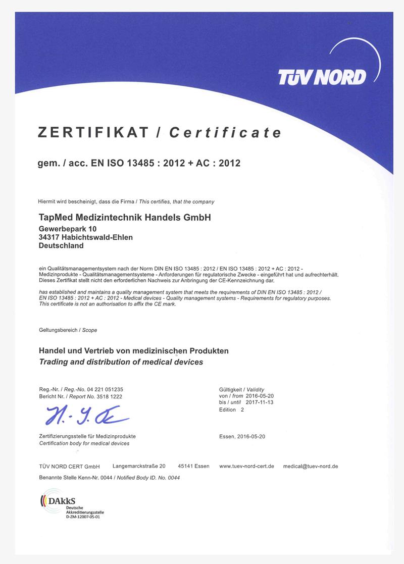 Zertifikate13485